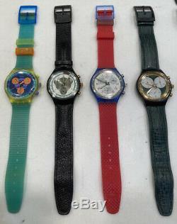 Vintage Swatch Chrono Collection Montre De 13 Pièces