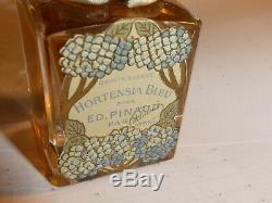 Vtg 1903 Scellé Baccarat Ed Pinaud Parfum Parfum Crystal Bottle Pièce De Musée