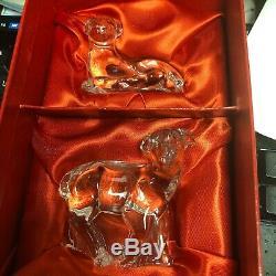 Waterford Crystal - Collection Nativity - Ensemble De 2 Pièces Sheep, Dans Son Emballage, En Parfait État