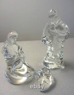 Waterford Crystal Nativity Set Modern Design Three Pieces Mint Condition