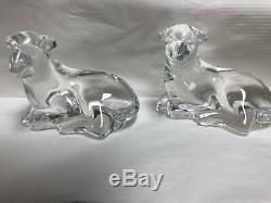 Waterford Crystal Set De 2 Pieces Mouton Collection Originale De Menthe Neuve