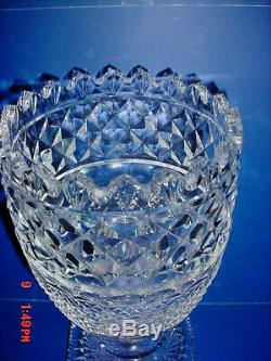 Waterford Grand 10.5 Vase Footed Centre Piece Master Collection Cutter Signé