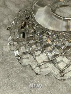 Waterford Signé Lustre En Cristal Adare Remplacement 2 Pièces Bobèche Avec 8 Prism