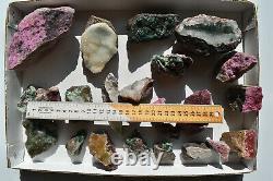 Wholesale Druzy Quartz Over Mixed Minerals From Congo 3 KG 24 Pièces # 4307