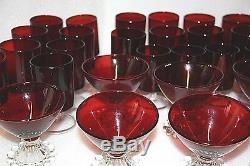 X 31 Pièces Ruby Cristal Rouge Rubis En Verre En Verre Rouge Verres De Cristal Rouge En Verre Rouge
