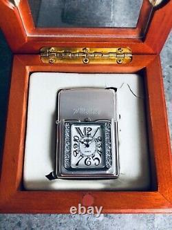 Zippo 2005 3d Time Lite Avec Rayures De Cristal Swarovski (mega Rare Piece)